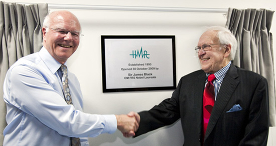 Malcolm Boyce and Jim Black when he formally opened the second stage conversion of HMR premises in 2009